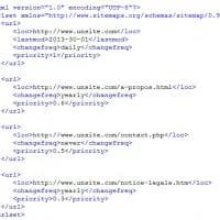 Exemple de fichier Sitemap.xml pour les moteurs de recherche