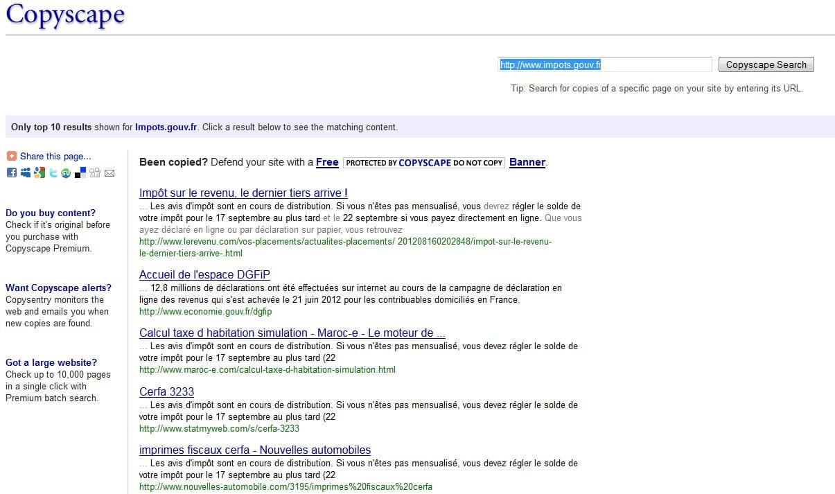 Copyscape L Anti Plagiat Du Web Blog Et Actualites
