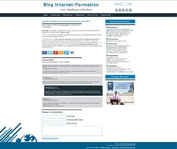 Nouvelle maquette graphique pour Blog-Internet-Formation