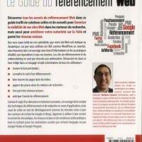 """Couverture arrière du """"Guide du référencement Web"""" de Mathieu Chartier"""