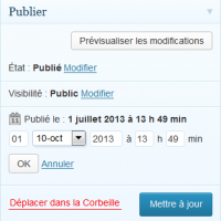 WP-Planification - Planifier une publication WordPress