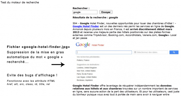 Moteur de recherche PHP objet avec FullText, LIKE et Regexp, pagination, surlignage des mots clés...