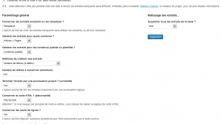 wp-excerpt-generator- Générateur d'extraits WordPress