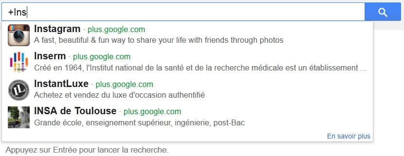 Déclenchement des pages sociales Google