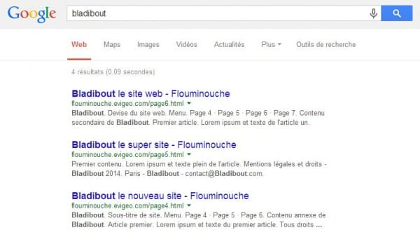 Test de positionnement web Google - HTML 5 VS xHTML