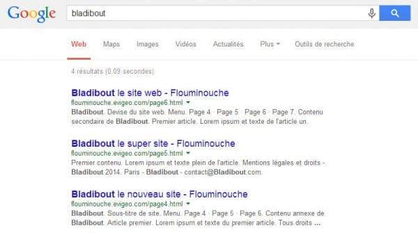 Test de positionnement web Google - HTML 5 VS xHTML