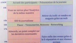 Programme du Web Camp Day d'Angers 2014 (SEO Camp)