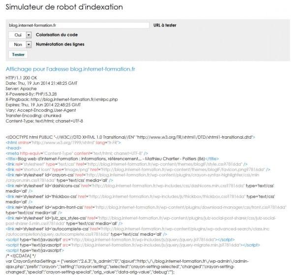 Spider simulator PHP (simulateur de robot en PHP)