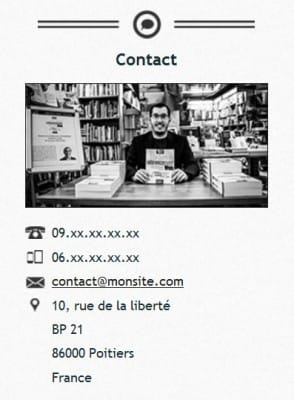 Widget de contact (code) sur WordPress