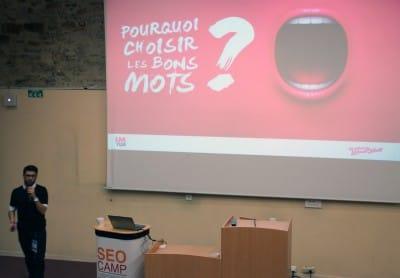 Matthieu Dixte - Conférence sur les mots clés et les réseaux sociaux