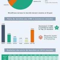 Liste des meilleurs CMS (e-commerce ou non) de l'année 2014 (inforgraphie)