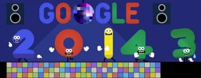 Doodle de Google du 1er janvier 2014