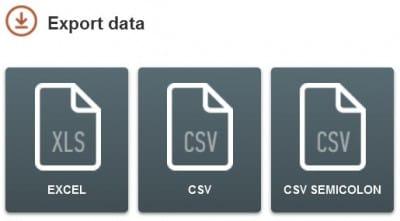 SEMrush - Exportation des données (Excel, CSV)