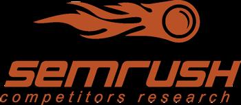 Logo de l'outil SEO SEMrush