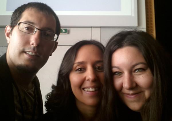 Mathieu Chartier, Zineb Ait Bahajji et Alexandra Martin (Miss SEO Girl) au Web Camp Day d'Angers