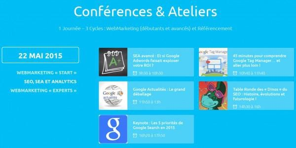 Cycle SEO, SEA et Analytics au Web Camp Day d'Angers