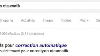 Correction automatique des requêtes par Google