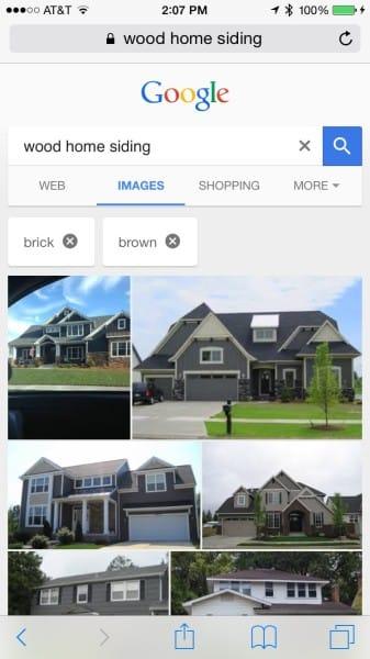 Ajout de filtres dans Google Images sur mobile