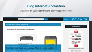 Nouvelle interface graphique (web design) du blog Internet-Formation