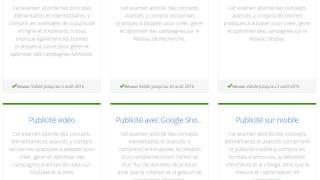 Certification Google Adwords - 6 examens validés - Mathieu Chartier