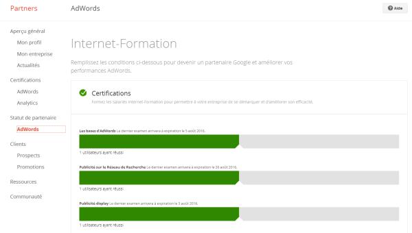 Programme Google Partners - Internet-Formation