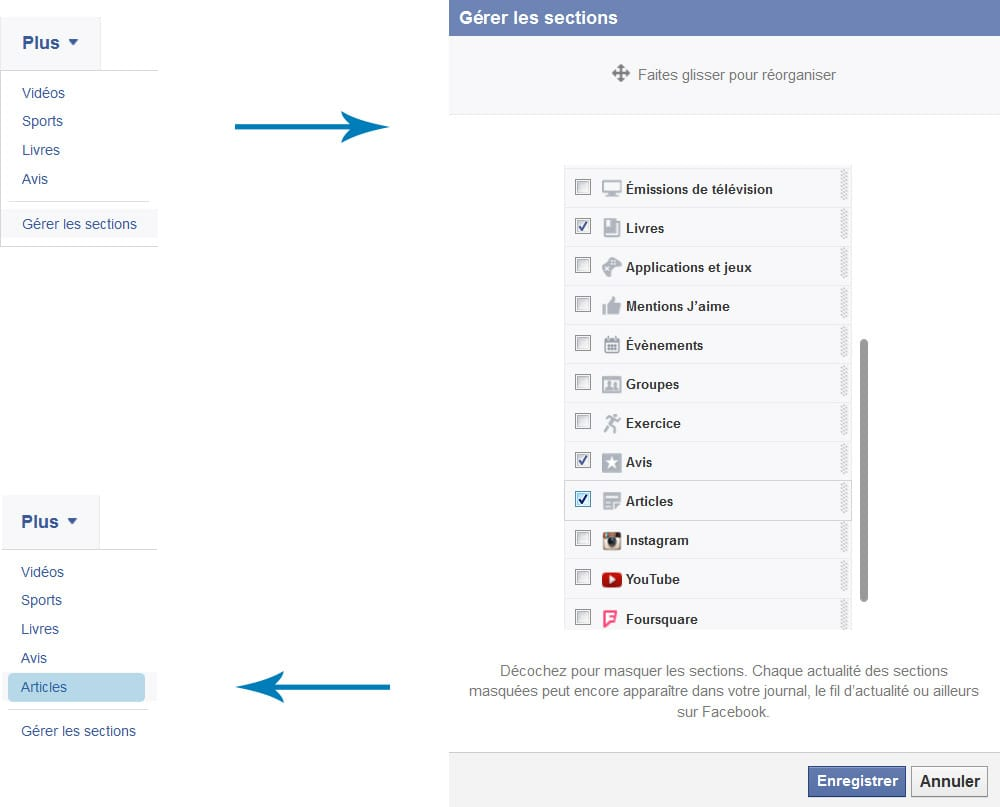 Ajouter la section Articles (Facebook Notes) dans Facebook