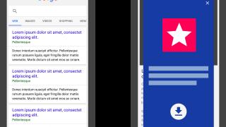 Publicité en interstitiel sur un site web mobile - Pénalité Google