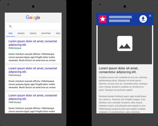 Publicité adaptative de téléchargements d'applications mobiles valides pour Google