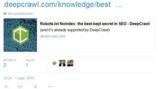 Google conseille d'éviter l'usage de la directive noindex dans un robots.txt