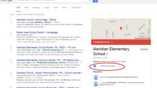 Bouton de vérification de compte Google My Business ajouté dans les SERP de Google