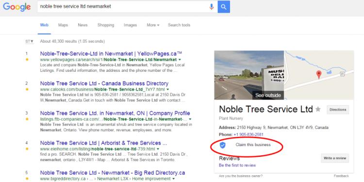 Ajout d'un bouton de vérification de l'adresse des entreprises dans Google My Business