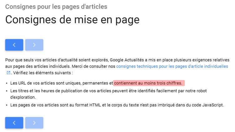 Google Actualités n'impose plus 3 chiffres dans ses URL