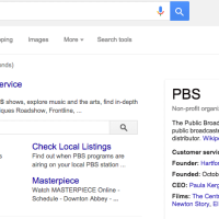 URL vers les sites dans Knowledge Graph