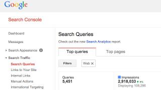 Suppression de l'ancien rapport sur les requêtes de Google Search Console