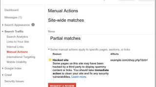 Test de suppression automatique des actions manuelles dans la Google Search Console