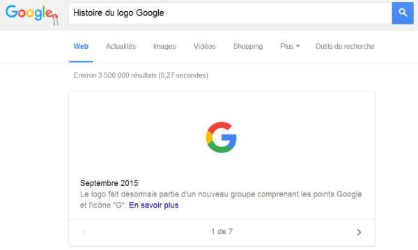 Historique des logos de Google