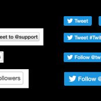 Nouveau design pour les boutons de partage de Twitter (flat design)