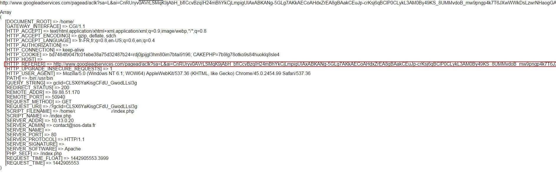 Google Adwords supprimer les URL referers dans les SERP du moteur de recherche