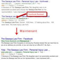 Les rich snippets de Facebook supprimés des SERP de Google ?