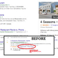 Suppression des liens et avis de Google+ dans les SERP