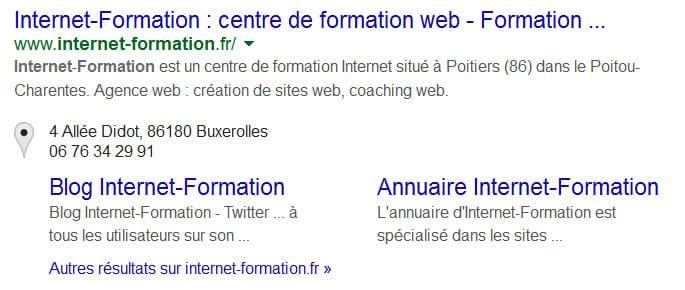 Suppression de rich snippets Google+ pour Internet-Formation