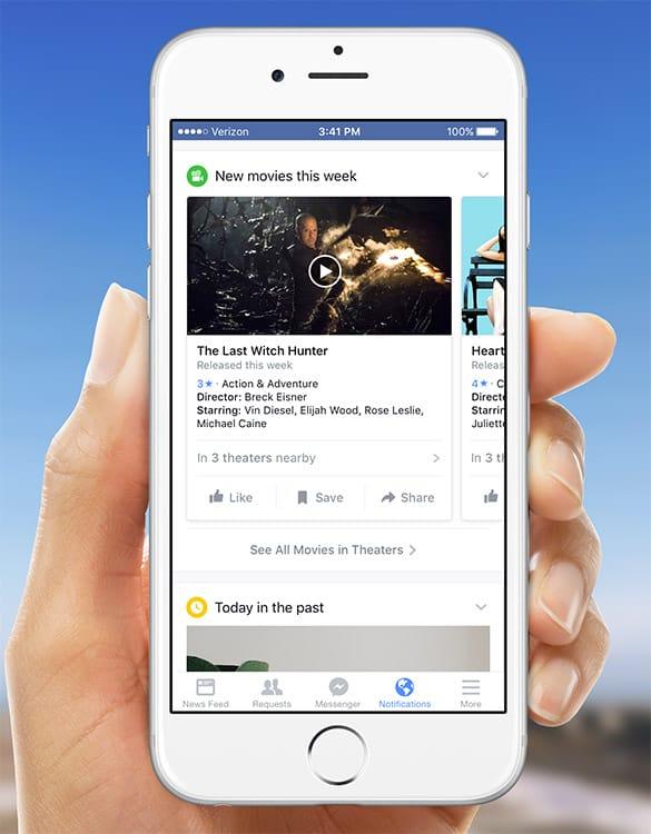 Onglet de notifications de Facebook avec plein de nouveautés