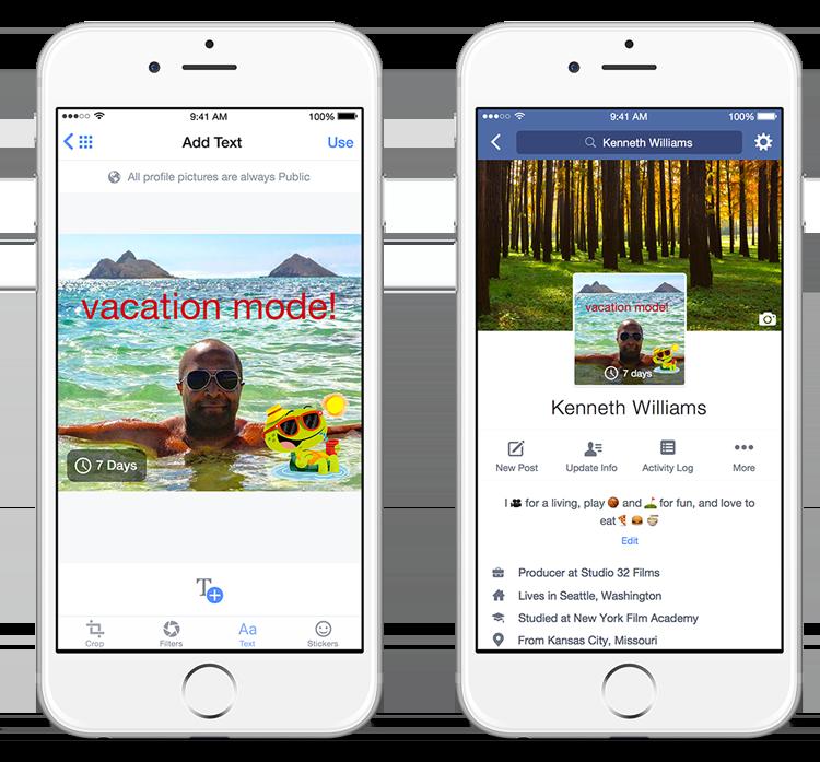 Facebook lance les photos de profil temporaires sur mobile