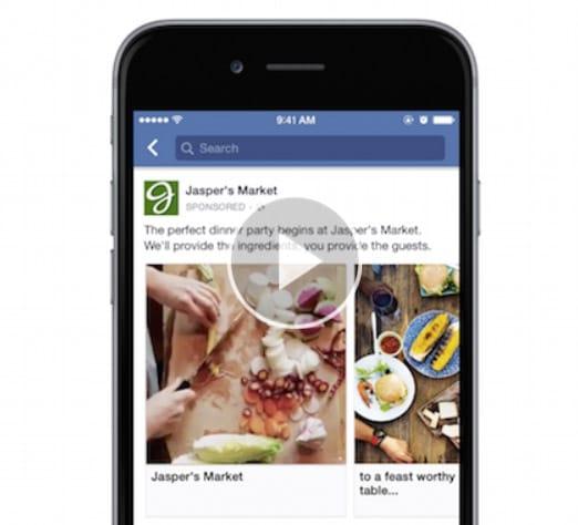 Facebook présente les vidéos en carousel sur mobile