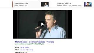 Autres enregistrements de titres musicaux dans le Knowledge Graph de Google
