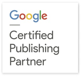 Badge du nouveau programme de certification d'Adsense, Certified Publishing Partner