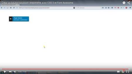 Créer un bouton poussoir responsive en CSS 3