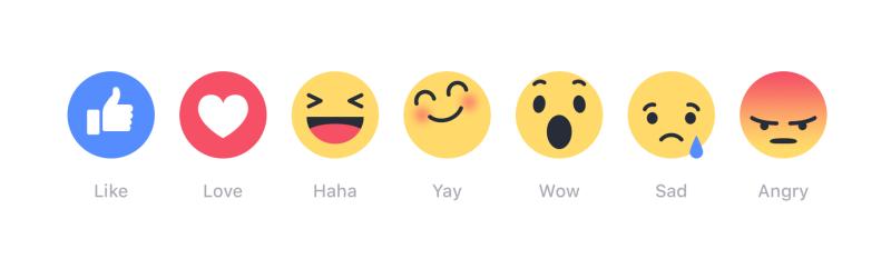 Les boutons d'empathie de Facebook sont en fait des emojis émotionnels.