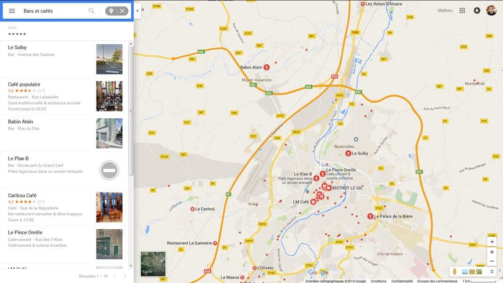 Nouveau design (flat / material) pour Google Maps