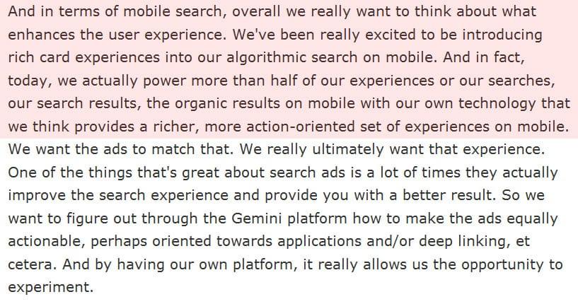 Marissa Meyer évoque la recherche mobile de Yahoo
